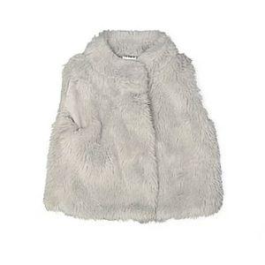 CARTER'S Gray Faux Fur Cozy plushy Baby Girl Vest
